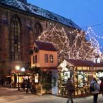Christmas Market in Colmar (Marché de noël de Colmar), Alsace, France. Author Office de Tourisme de Colmar. Licensed under Creative Commons Attribution...