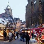 Christmas Market in Colmar (Marché de noël de Colmar), Alsace, France. Author Office de Tourisme de Colmar. Licensed under Creative Commons Attribution....