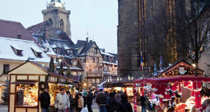 Christmas Market in Colmar (Marché de noël de Colmar), Alsace, France. Author Office de Tourisme de Colmar. Licensed under Creative Commons Attribution....