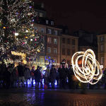 Christmas Market in Warsaw, Poland. Author Magic Madzik. Licensed under Creative Commons Attribution