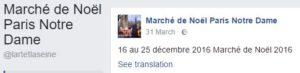 Marché de Noël de Paris Notre-Dame 2016