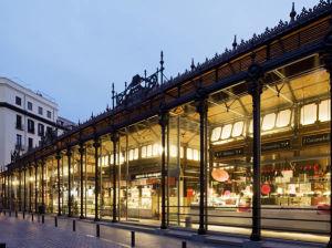 Mercado de San Miguel, Madrid, Spain. Author Mercado de San Miguel