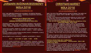 Jarmark Bożonarodzeniowy Wola 2016