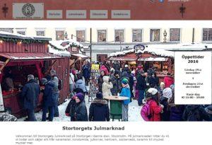 Gamla Stan; Stortorgets julmarknad 2016