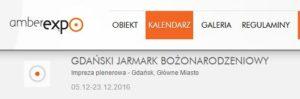 Gdański Jarmark Bożonarodzeniowy 2016
