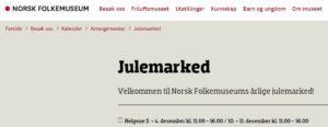 Norsk Folkemuseums tradisjonsrike julemarked 2016