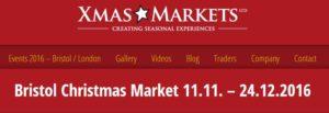 Bristol Christmas Market 2016