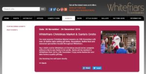 Christmas Market in Whitefriars 2016