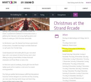 Christmas at the Strand Arcade 2016
