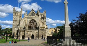 Exeter Cathedral, Devon, United Kingdom. Author Charles Miller. Licensed under the Creative Commons Attribution