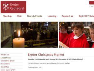 Exeter Christmas Market on Cathedral Green 2016