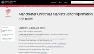 Manchester Christmas Markets 2016