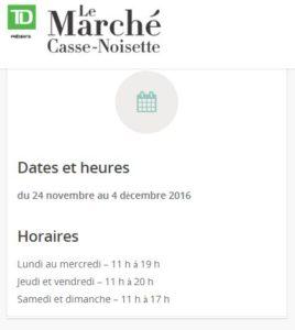 Marché de Noël (Marché Casse-noisette) de Montréal 2016