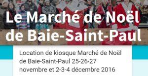 Marché de Noël de Baie-Saint-Paul 2016