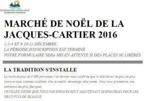 Marché de Noël de La Jacques-Cartier 2016
