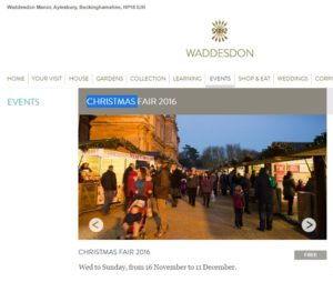 Waddesdon Manor Christmas Fair 2016