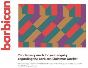Barbican Christmas Market 2016