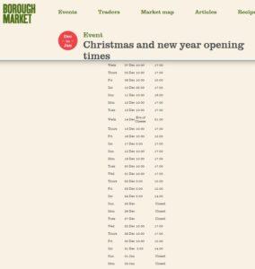 Christmas at Borough Market 2016