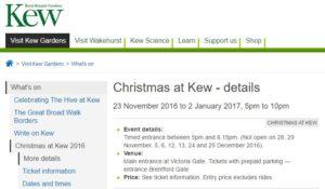 Christmas at Kew 2016