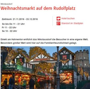 Weihnachtsmarkt auf dem Rudolfplatz