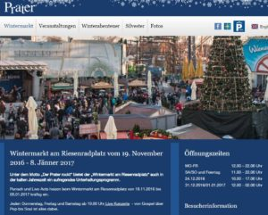 Wintermarkt am Riesenradplatz 2016