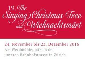 Wiehnachtsmärt Singing Christmas Tree 2016