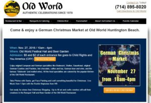 German Christmas Market at Old World Huntington Beach 2016