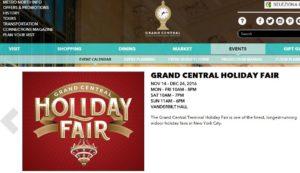 Grand Central Holiday Fair 2016