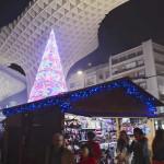 Christmas markets in the Plaza de la Encarnacion, Seville. Author and Copyright Las Brujas Eventos