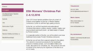 Naisten Joulumessut Wanhassa Satamassa 2016