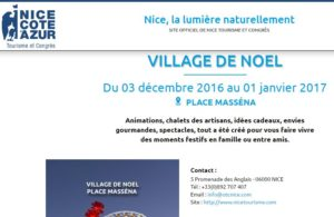 Village de Noël Nice 2016