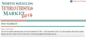 North Shields Victorian Christmas Market 2016