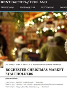 Rochester Christmas Market 2016