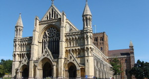 St Albans Cathedral, Hertfordshire, United Kingdom. Author Przemysław Sakrajda. Licensed under the Creative Commons Attribution-Share Alike