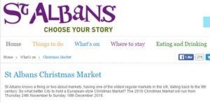 St Albans Christmas Market 2016
