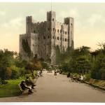 The castle, Rochester, England. No Copyright Library of Congress