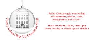 Poetry Ireland Pop-Up Christmas Shop 2016