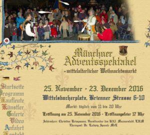 Weihnachtlicher Mittelaltermarkt mit Adventsspektakel 2016