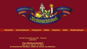 Weihnachtsdorf im Kaiserhof der Residenz München 2016