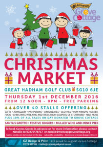 Great Hadham Golf and Country Club in aid of Grove Cottage Christmas Market 2016