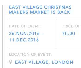 Christmas Makers Market at East Village E20 2016